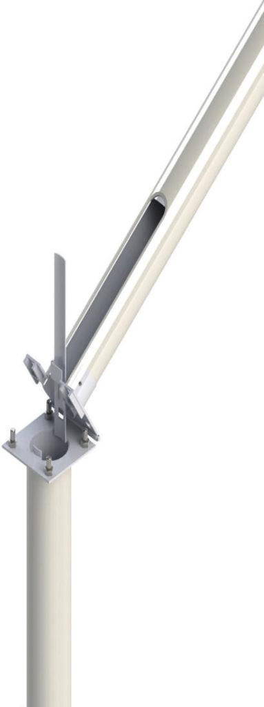 Composite column with hinge mechanism