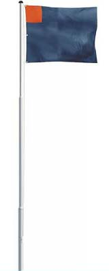 Standard aluminium sectional flagpole