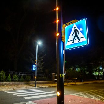 aktywne przejście dla pieszych